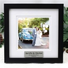 Personalised Wedding Instagram Photo Frame 5x5 White/Black Wood
