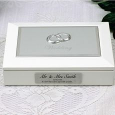 Personalised White Wedding Jewel Box