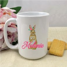 Personalised Easter Coffee Mug - Rosie Bunny