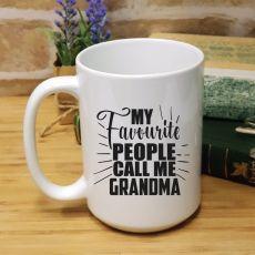Grandma's Favourite People Personalised Coffee Mug