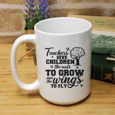 Personalised Teacher White Coffee Mug - To Fly