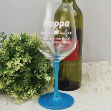 Pop  Engraved Personalised Wine Glass 450ml