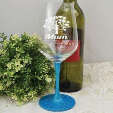 Mum Engraved Personalised Wine Glass 450ml