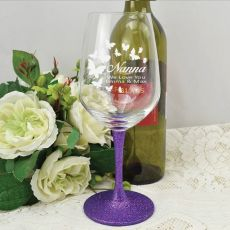 Nana Engraved Personalised Wine Glass 450ml