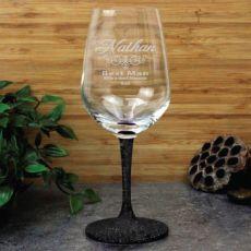 Best Man Personallised Engraved Wine Glass