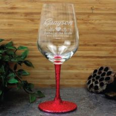 Father Of The Bride Personalised Wine Glass