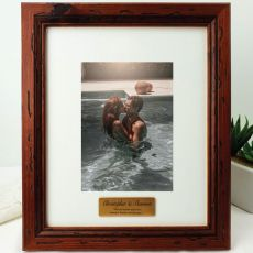 Anniversary Personalised Photo Frame 5x7 Mahogany Wood