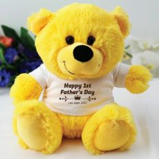 Fathers Day Personalised Yellow Bear
