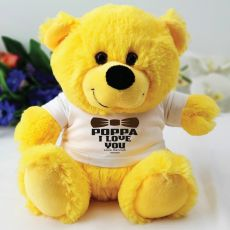 Personalised Pop Yellow Teddy Bear